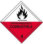 Warning Spontaneously Combustible