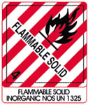 Warning Flammable Solid