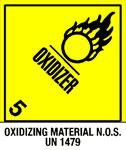 Warning Oxidizer - Oxidizing Material