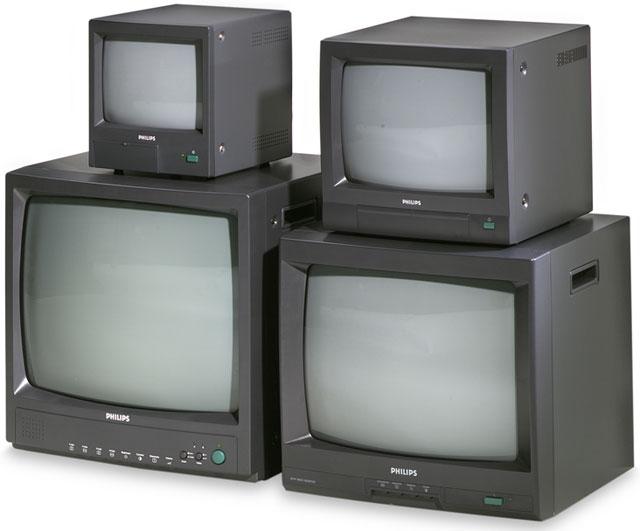 Чернобелый 15 дюймовый монитор для систем охранного телевидения совместимый со всеми cctv-камерами