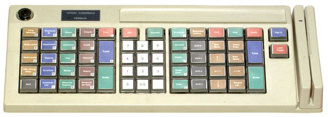 Logic Controls KB5000 Programmable Keyboard Point of Sale Keyboards