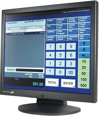 Logic Controls LE1017 Series Touchscreen Monitor