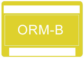 Other Regulated Material ORM-B Shipping Labels
