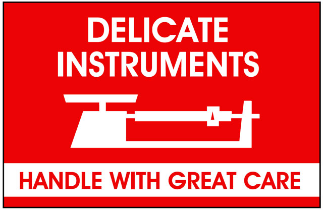 Packing Delicate Instruments Shipping Labels