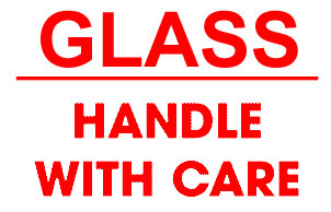 Packing Glass Handle With Care Shipping Labels