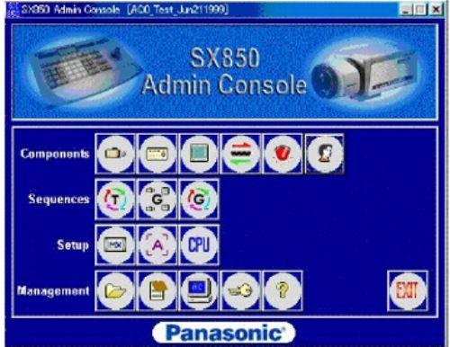 Panasonic WJ-ASC8501 Security Camera Software