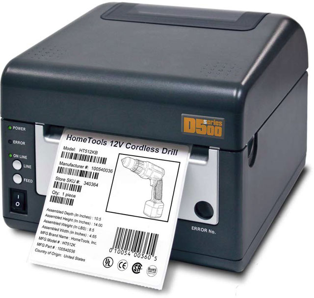 SATO D508 Thermal Barcode Label Printer