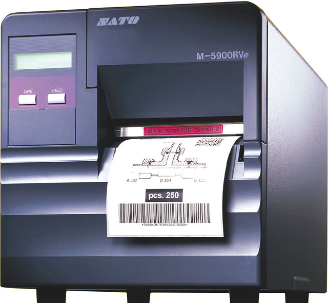 SATO M-5900RVe Thermal Barcode Label Printer
