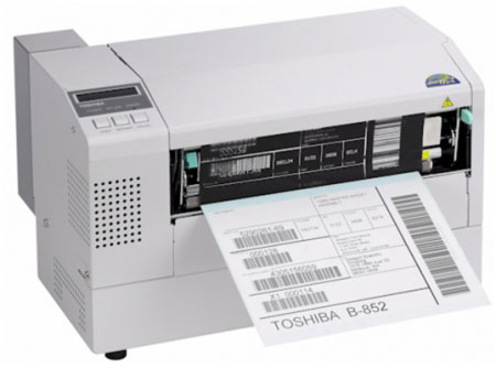 Toshiba TEC B-852R Thermal Barcode Label Printer
