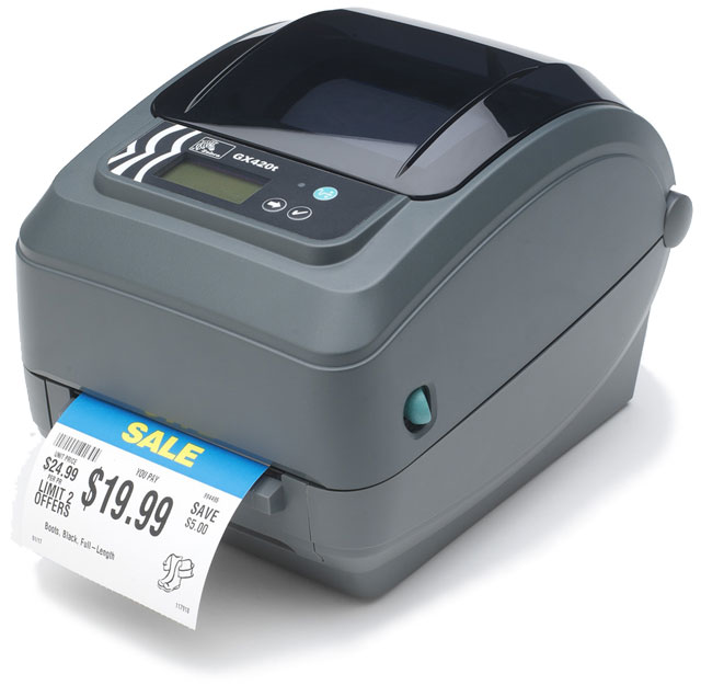 Zebra GX420 Thermal Barcode Label Printer