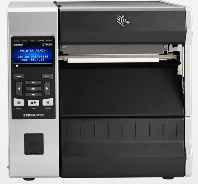 Zebra ZT620 Industrial Printer Thermal Barcode Label Printer