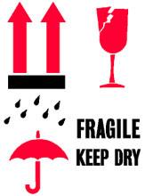 Photo of Packing International Fragile Keep Dry