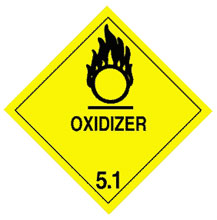 Photo of Warning Oxidizer